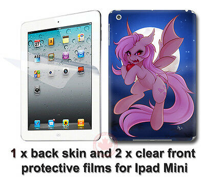 Cool My Little Pony SKIN STICKER COVER and 2 protected films for Apple iPad Mini