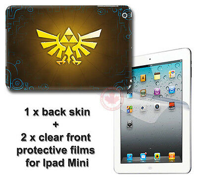 Legend of Zelda A Link SKIN VINYL STICKER DECAL COVER with 2 films for iPad Mini
