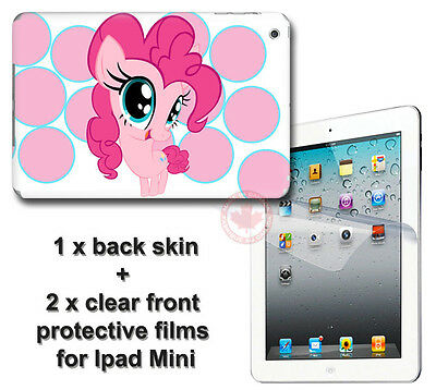 My Little Pony Pinkie Pie SKIN STICKER COVER and 2 protected films for iPad Mini