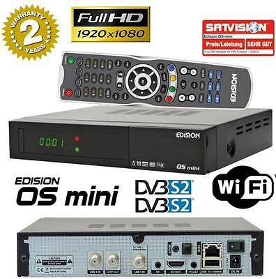 Edision OS Mini FullHD 1080p Twin E2 Linux Receiver 2x DVB-S2 USB WLAN Bluetooth