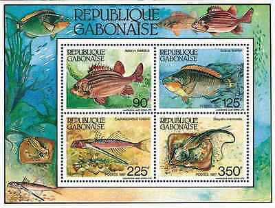 Timbres Poissons Gabon BF53 ** lot 18040