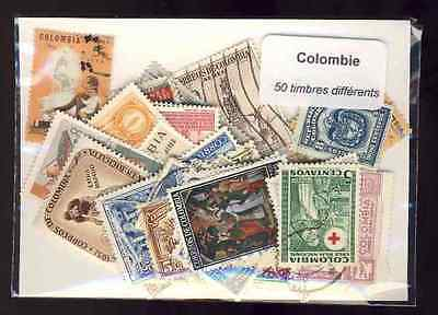 Colombie - Colombia 50 timbres différents