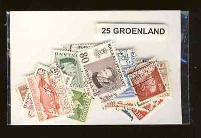 Groenland - Greenland 25 timbres différents