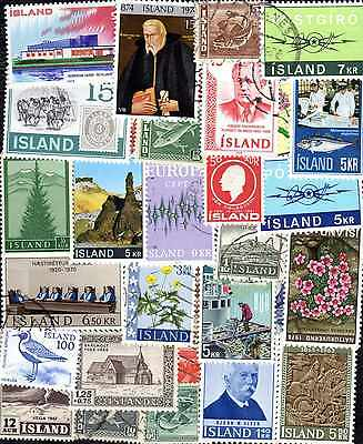 Islande - Iceland 600 timbres différents