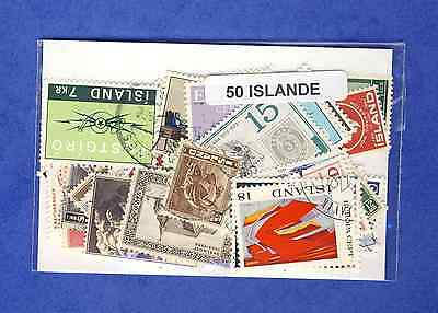 Islande - Iceland 50 timbres différents