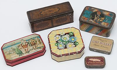 Vintage Tins, an assortment x 6