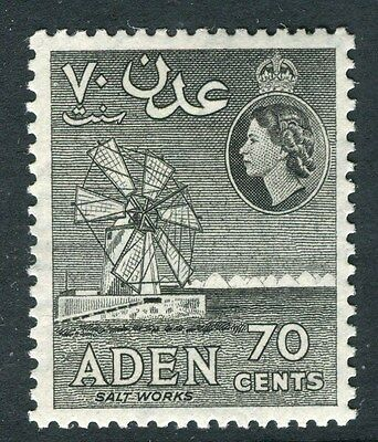 ADEN;  1953 early QEII issue fine Mint hinged 70c. value