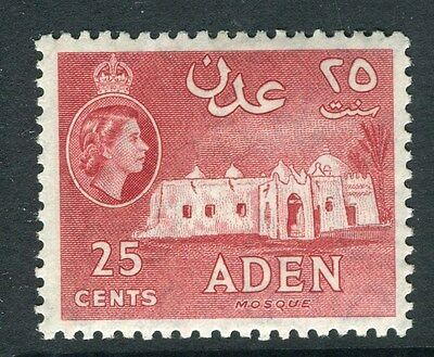 ADEN;  1953 early QEII issue fine Mint hinged 25c. value