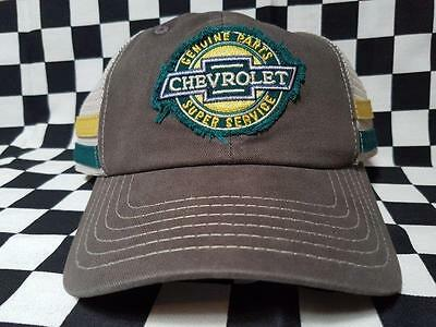 Chevrolet Genuine Parts Grey/Cream Hat w/Snap Closure