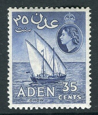 ADEN;  1953 early QEII issue fine Mint hinged 35c. value Shade