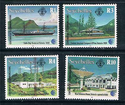 Seychelles 1993 Cent.of Telecoms SG 840/3 MNH
