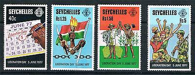 Seychelles 1978 Liberation Day SG 424/7 MNH