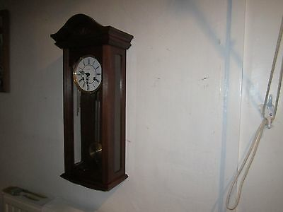 Vintage Hermle Striking Wall Clock In V.g.w.o.