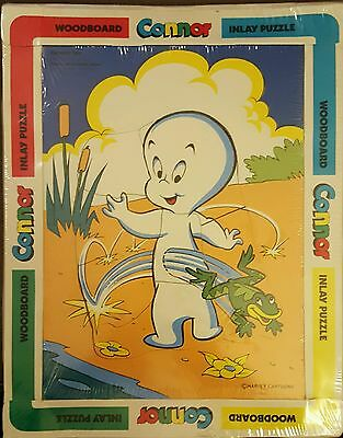 Casper the friendly ghost wooden puzzle 1983