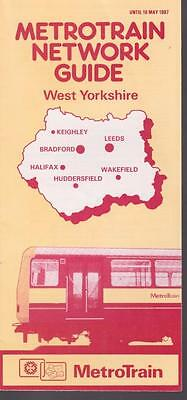 British Rail Map & Guide West Yorkshire May 1987