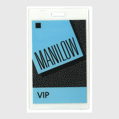 Barry Manilow authentic * concert tour Laminated Backstage Pass