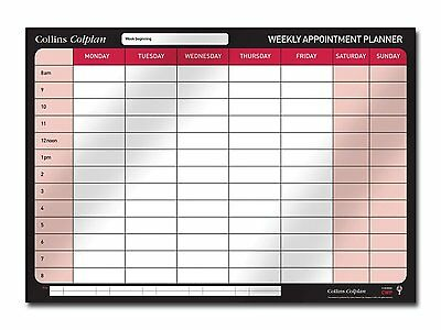 Collins Wall Planner Weekly Appointments Large A1 Calendar Organiser