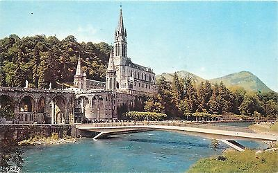 Lourdes Basilica and the Gave 1990 France