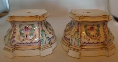 Unusual pair of 19th century Continental porcelain stands