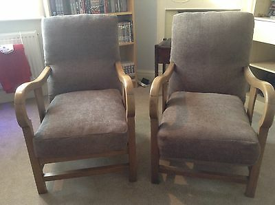 Pair Of Vintage Retro Fireside Lounge Chairs