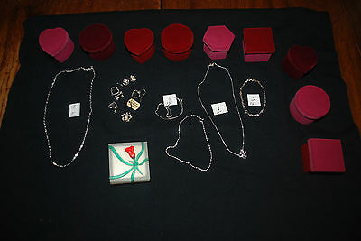 Wholesale 11pc Sterling Silver/Gold Jewelry Lot Necklace Earrings Pendants More