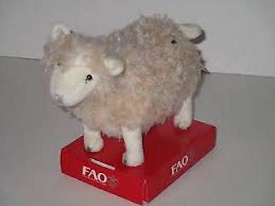 New FAO Schwarz 7 inch plush miniature sheep- beige X000RLUXM3