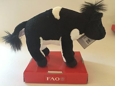 "Fao Schwarz 7"" Plush Miniature Cow"