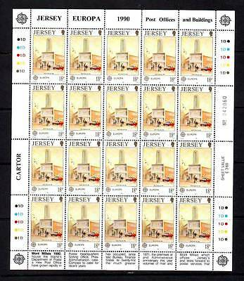 a119 - JERSEY - SG518 MNH 1990 EUROPA - POST OFFICE BUILDING MONT MILLLAIS