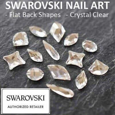 SWAROVSKI Flat Back Crystals Rhinestones Gems: NAIL ART SHAPES: Crystal Clear