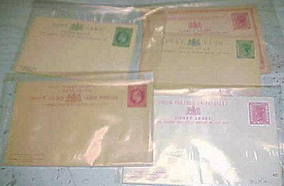 Sierra Leone Postal Cards Mint 5 Diff. Before 1912 Inlcudes 3 Doubles