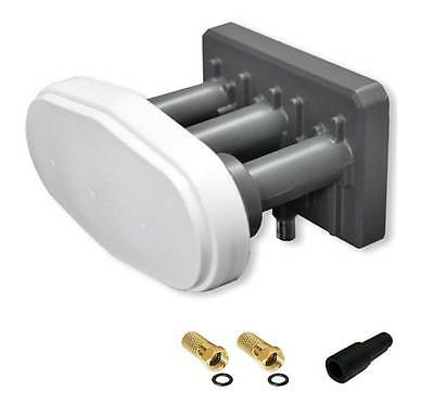Monoblock Single 3° Grad triplefeed LNB 3 Satellit 13°/ 16°/ 19.2°E Balkan