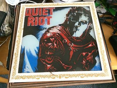 Extremely Rare Vintage 1980s QUIET RIOT Carnival Mirror 12 x 12