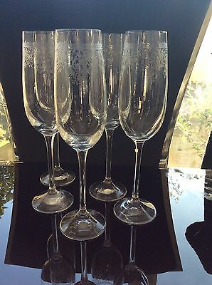 Set Of Champagne Glasses By Laura Ashley