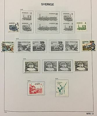 SVERIGE SWEDEN 1975/lll LOT OF 8 USED LOOK AT THE PICTURE SPLENDID