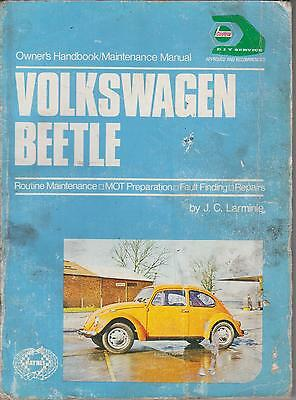 Vw Beetle 1200 1300 1500 1302 1302S 1303 1303S 1954-73 Owners Maintenance Manual