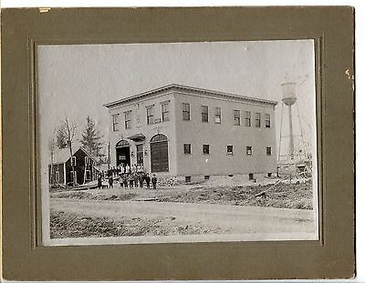 1906 Photo, Waterville? Maine Fire Department Building, on Silver Paper, Dudley