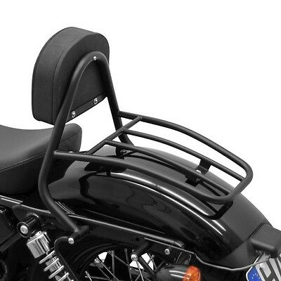 Sissy Bar+porte bagages pour Harley Davidson Sportster Forty-Eight 48 XL48 10-16