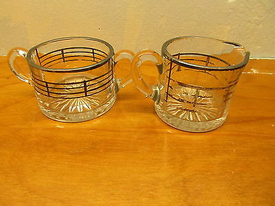 vintage glass sugar and creamer