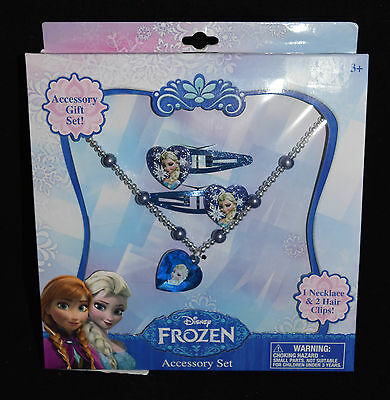 Jewelry Accessory Gift Disney Frozen Elsa Anna New Hair Clips Necklace  21B