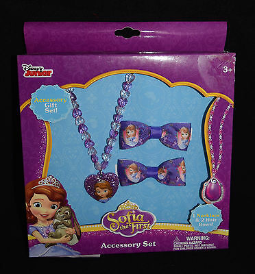 Jewelry Accessory Gift Disney Sofia The First Purple New Hair Bows Necklace