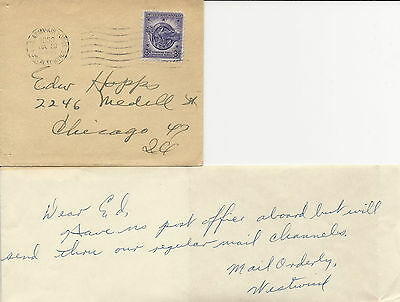 Greenland USA Arctic small cover U.S.Army·Air Force Postal S. APO 23 20.7.1953