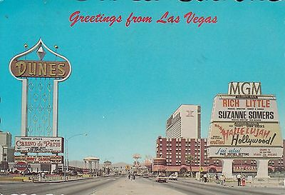 LAS VEGAS NV MGM GRAND RICH LITTLE SUZANNE SOMERS 1960s SIGNS AND HOTELS