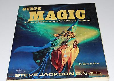Gurps MAGIC by Steve Jackson Games 1990 #6023 RPG game