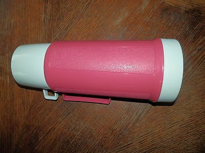 Vintage Pink Coffee Thermos, Measures 11.5 inches High, Good Condition