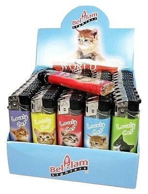 "Lot Briquet Rechargeables Slim ""Lovely Cat"" Au choix lot de 5 à 100 Briquets !"