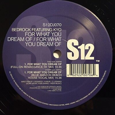"""Bedrock feat. Kyo - For What You Dream Of - 12"""" vinyl - S12"""