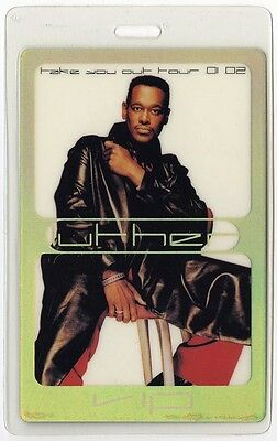 Luther Vandross authentic 2001-2002 concert tour Laminated Backstage Pass