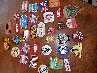 Lot of Collectible Vintage Sew On Patches, KFC, Winn Dixie, Service Station, Etc