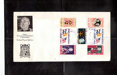 NICARAGUA 1959 FIRST DAY COVER, S/S # 823a CARDINAL SPELLMAN VISIT TO MANAGUA !!