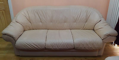 Three Seater Sofa And Two Matching Arm Chairs